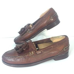 Cole Haan Kiltie Country Loafers 8.5 Brown Leather